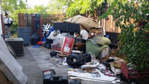 West Coast Junk Removal backyard 1