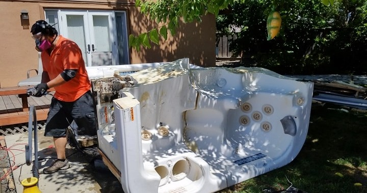 Demolish and haul hot tub in Dublin, California