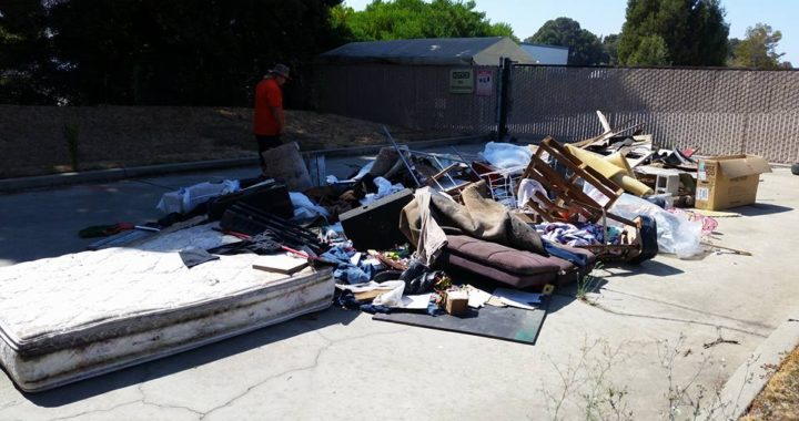 Oakland illegal dumping cleanup