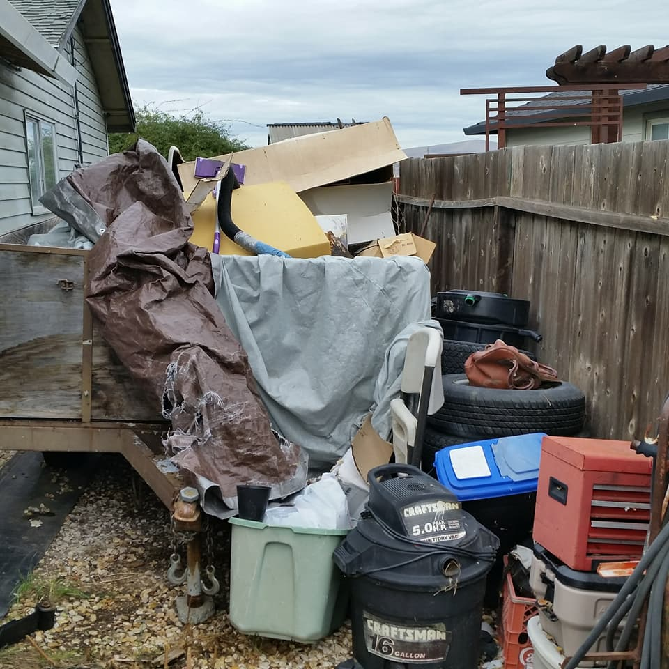 Junk haul in Livermore, CA of car parts, tire disposal