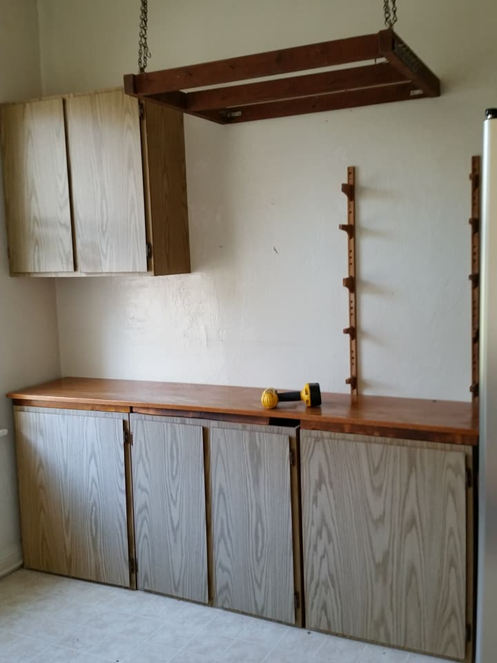 Kitchen cabinets before being demolished in San Francisco junk removal