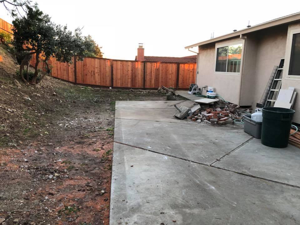 concrete hauling yard debris bay area