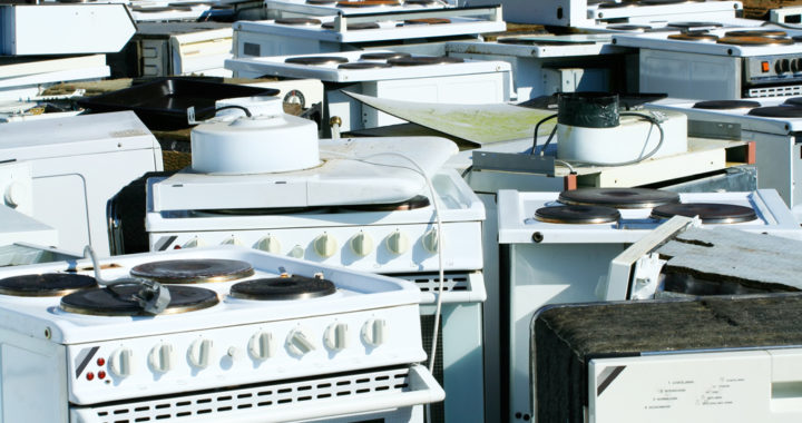 Recycled household appliances from Hayward, CA and the San Francisco Bay Area