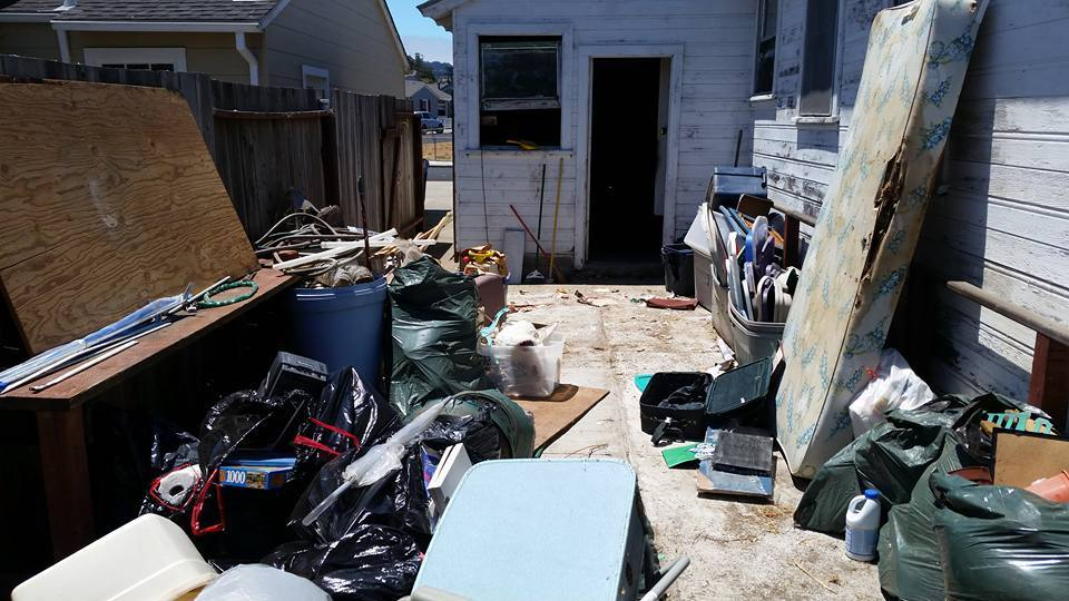A garage clean out in Livermore, CA