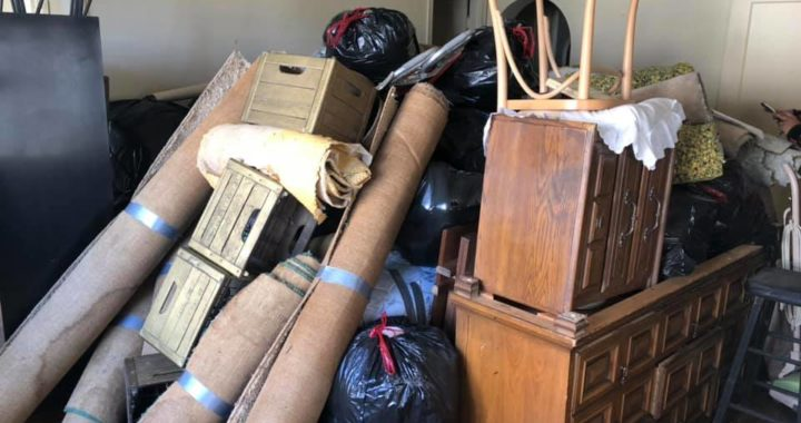 Apartment unit cleaned out in downtown Oakland CA