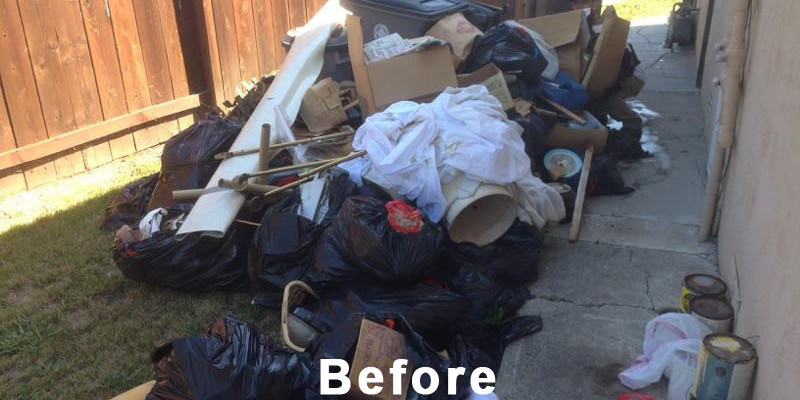 junk and trash removal before
