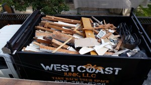 construction wood removal dump truck