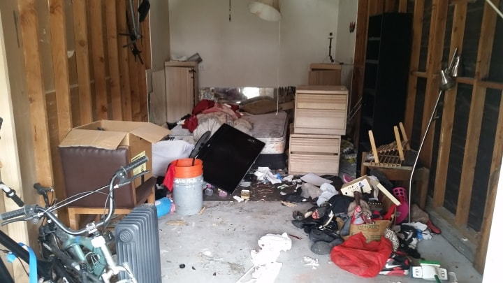 San Jose junk removal and hauling from a garage packed with junk