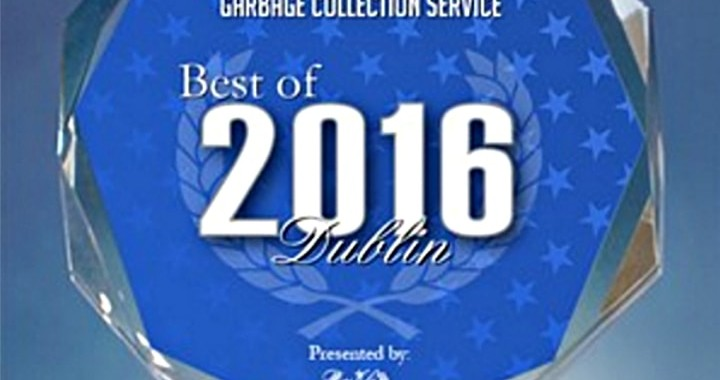 Dublin CA trash hauling service received award for best garbage collection service in Dublin