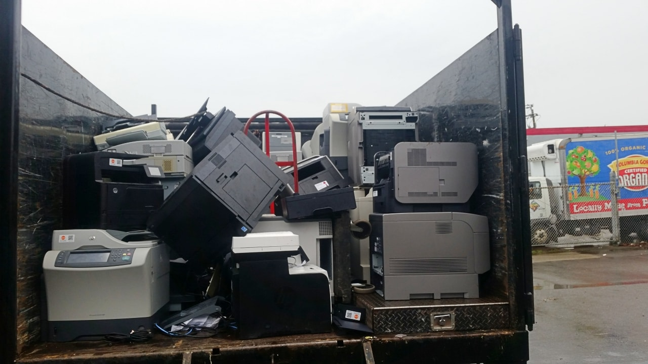 Commercial e-waste pickup and hauling service