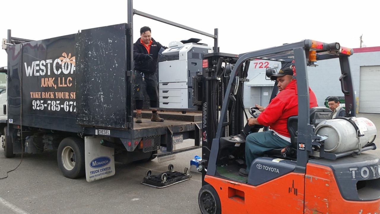 E-waste removal job for high-tech company in Palo Alto, California