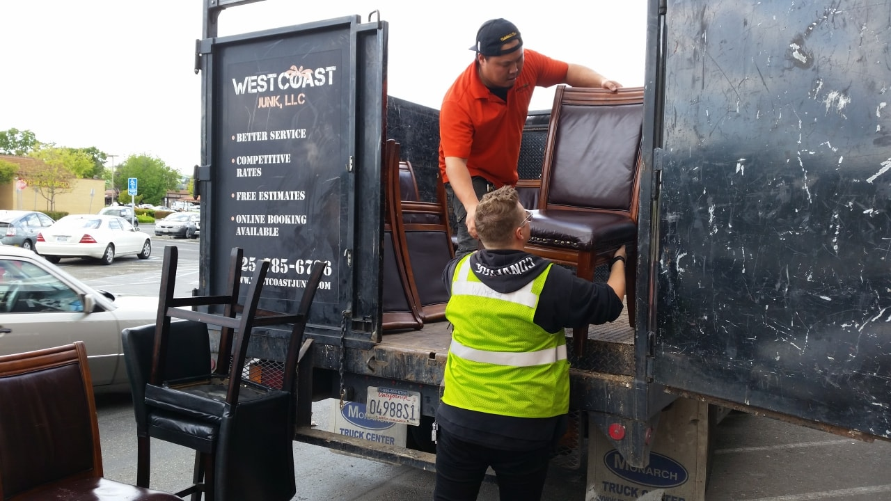 Hauling and cleanup of furniture in Pleasanton results in donation to Savers Donation Center in Pleasanton, CA