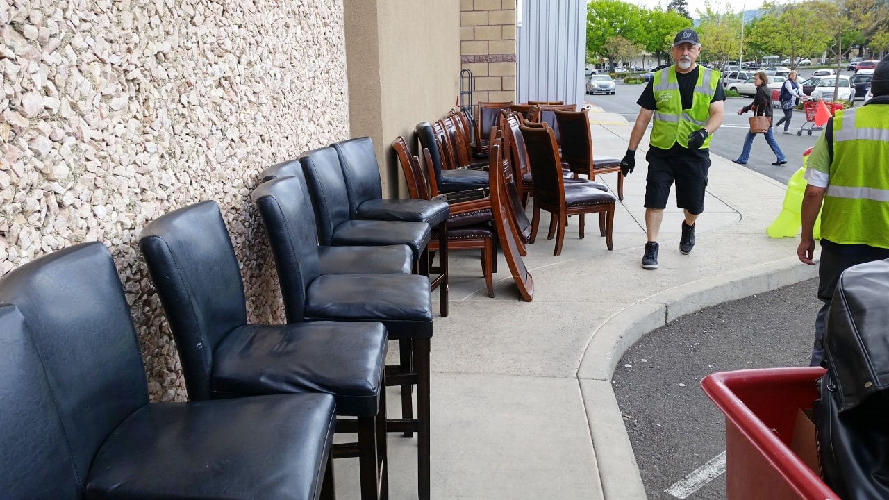 Furniture hauled from restaurant donated to Savers Donation Center in Dublin, CA