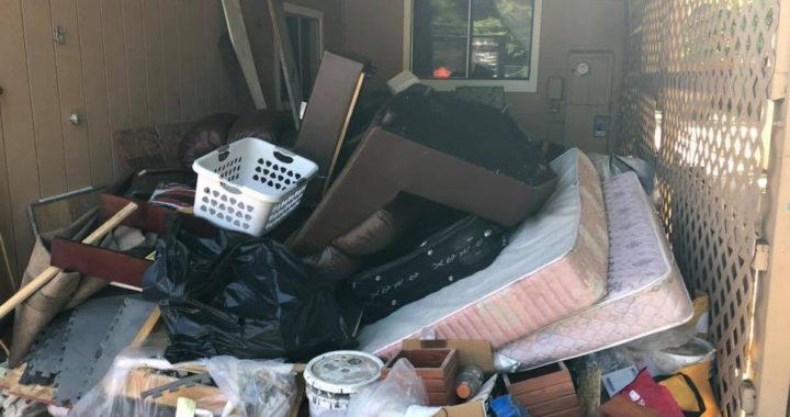 Spring Cleaning mess in SF Bay Area, old furniture, junk needs hauling