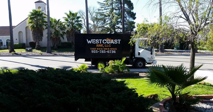 West Coast Junk local junk Hauling service truck