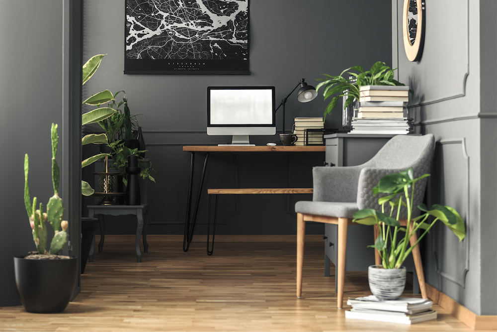 Clean Out your home office and sell the dream of not commuting, plus show what a great space you have!