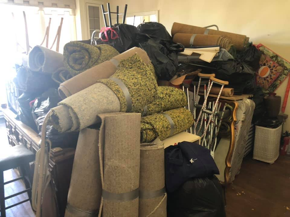 Apartment storage cleaned out in downtown Oakland CA