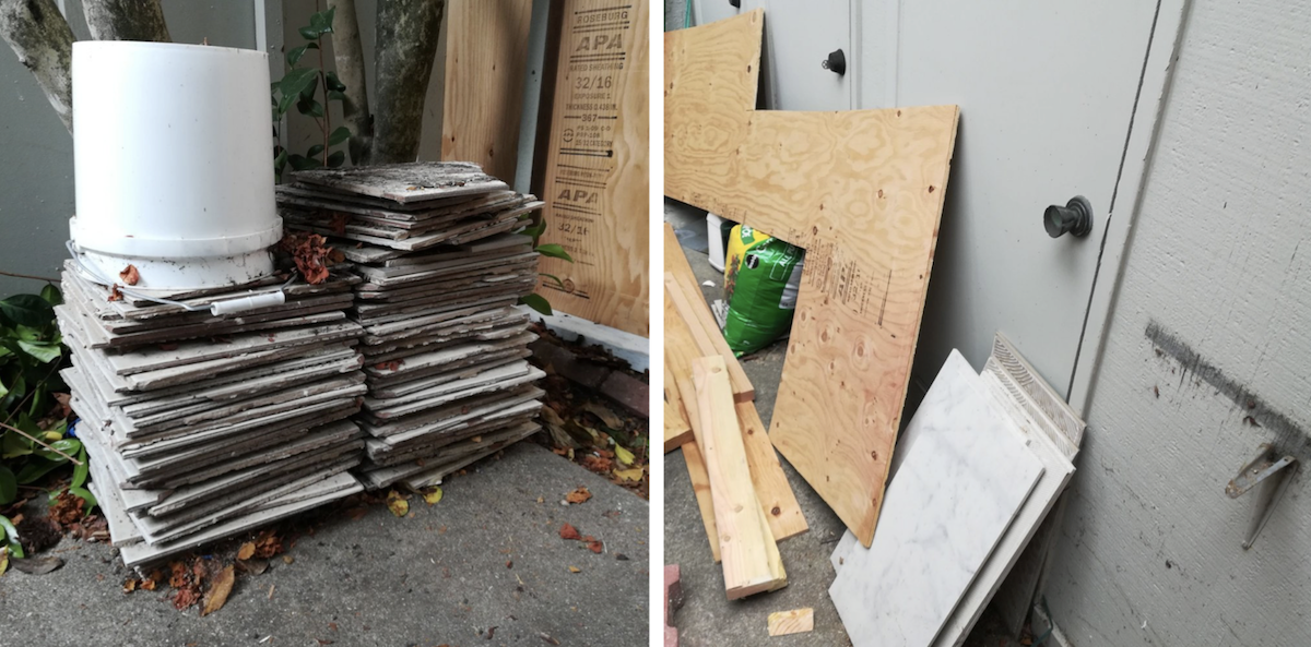 Wood and tile disposal hauled away from San Ramon, CA - five-star review!